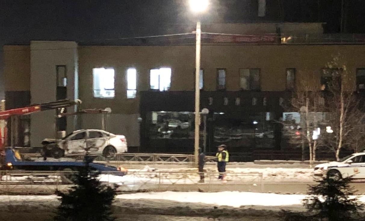 «Лада» загорелась после ДТП в костромском Заволжье