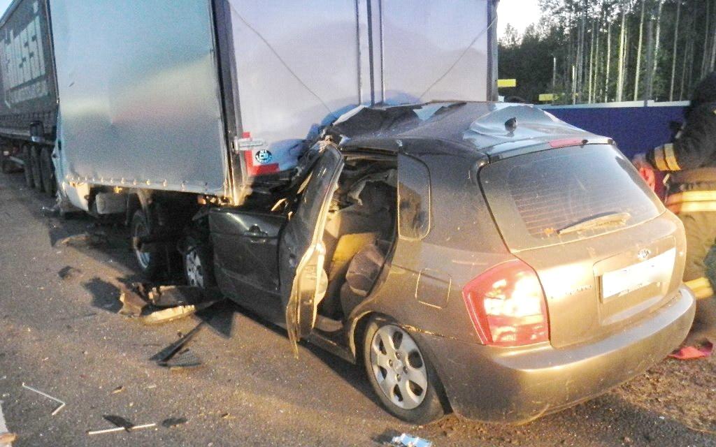 На трассе в Костромской области погиб водитель иномарки