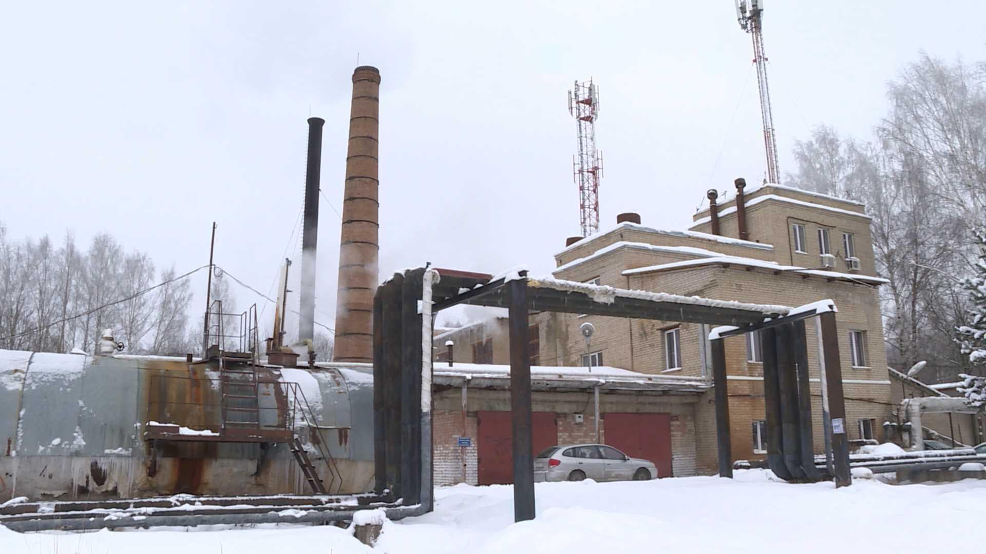 Котел разогрелся в поселке Никольское Костромского района