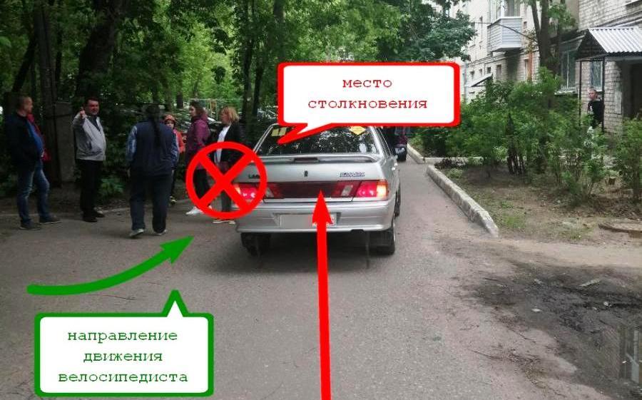 11-летний велосипедист попал под машину в костромском дворе