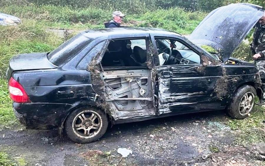 Молодой водитель попал в больницу после аварии в костромском райцентре