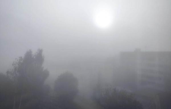 Кострому накрыл густой утренний туман