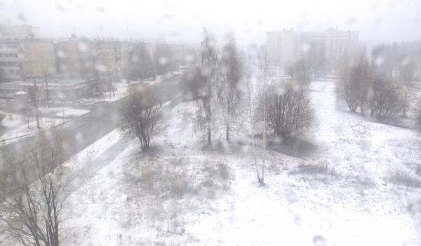 Кострому накрыло жидким апрельским снегом