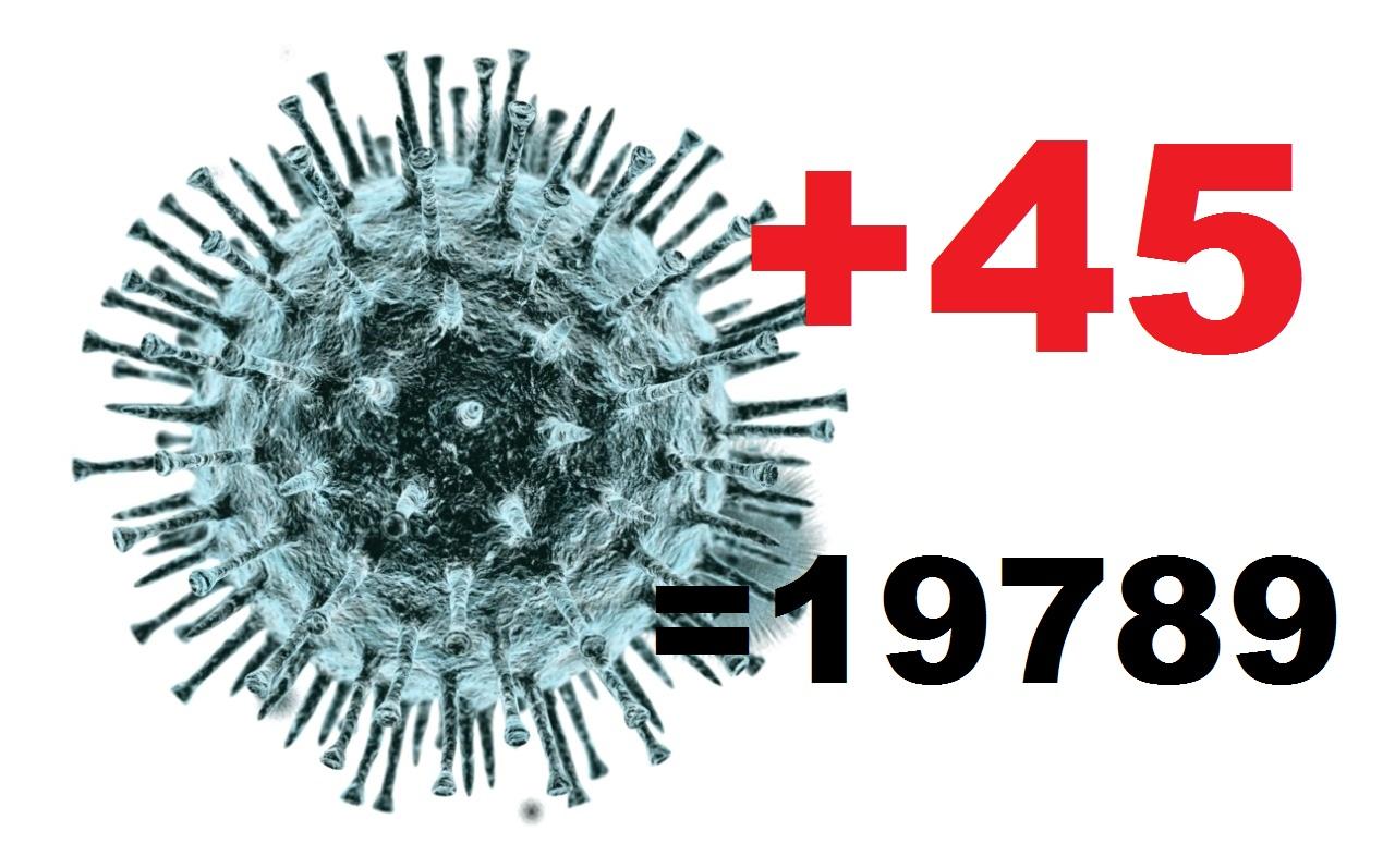 Коронавирус за сутки диагностирован в Костромской области у 45 человек