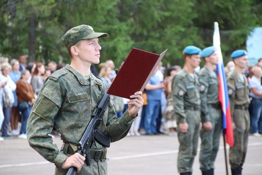 Студенты КГУ дали воинскую присягу