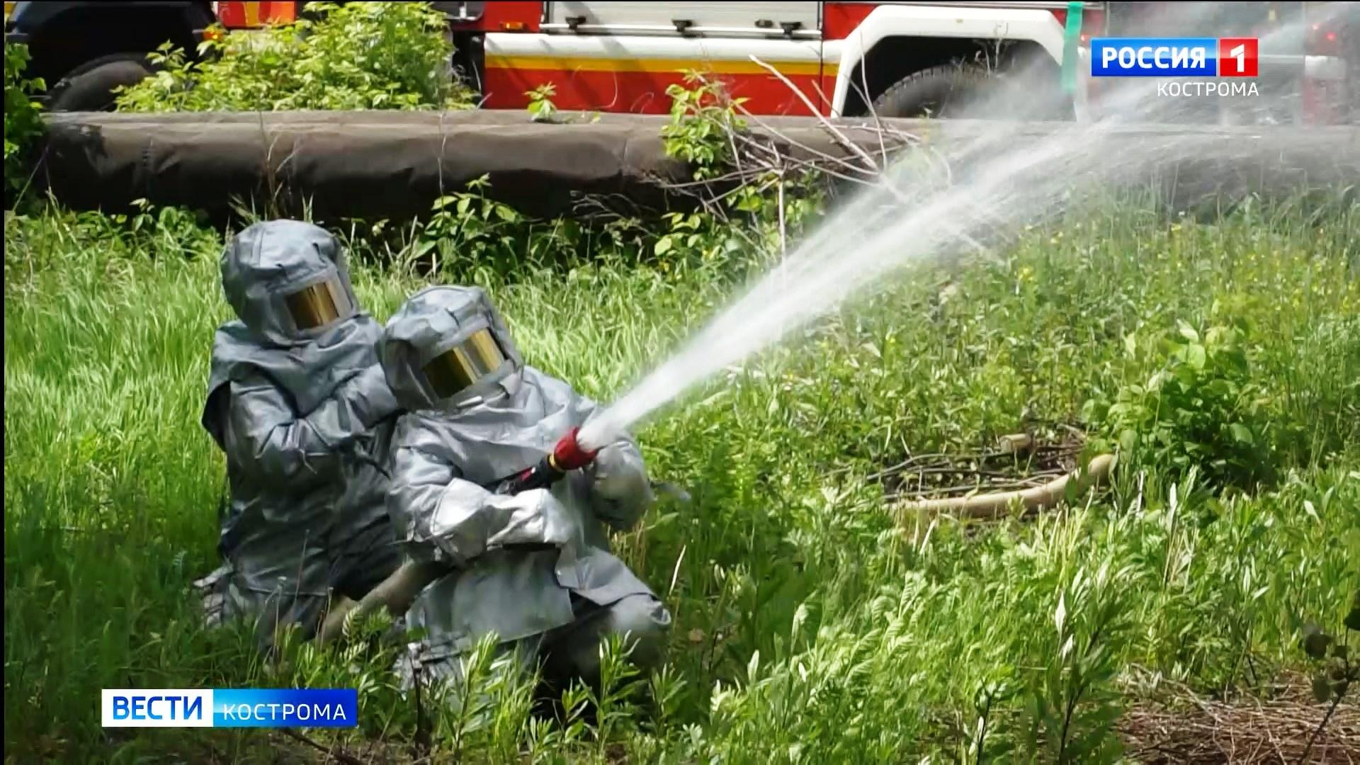 Вымышленный пожар на ж/д вокзале в Костроме засыпали «Пургой»