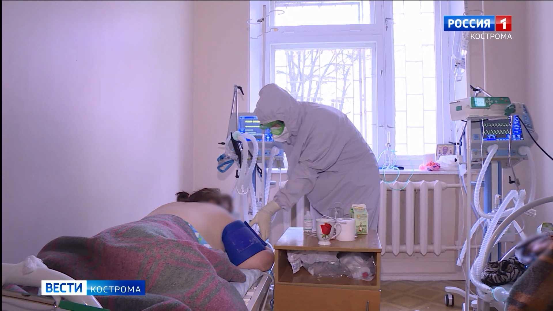 Оперативный штаб: в костромских красных зонах занято 87% коек