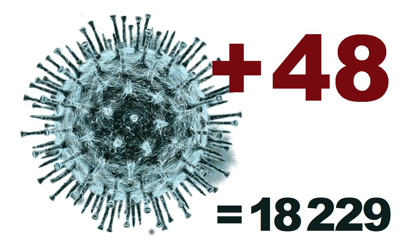 Коронавирус в Костромской области за сутки выявлен у 48 человек