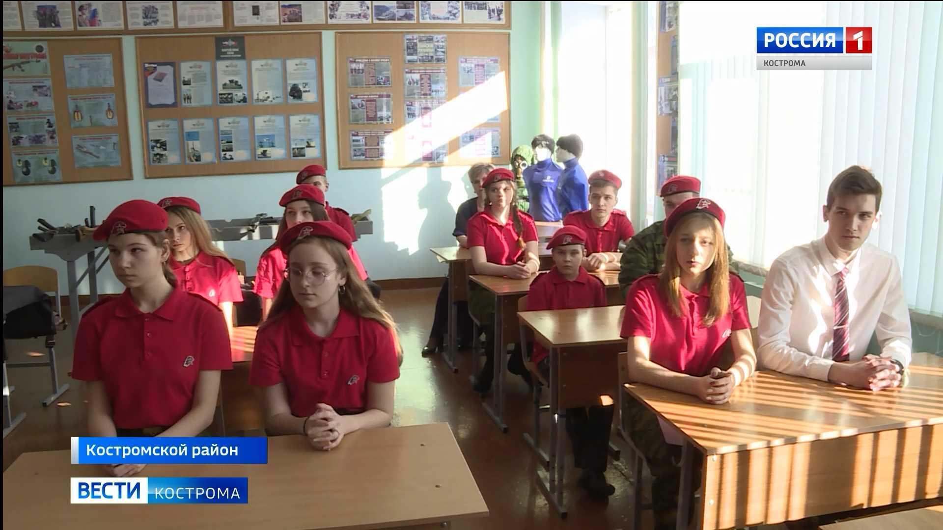 Школа под Костромой растит детей в малиновых беретах