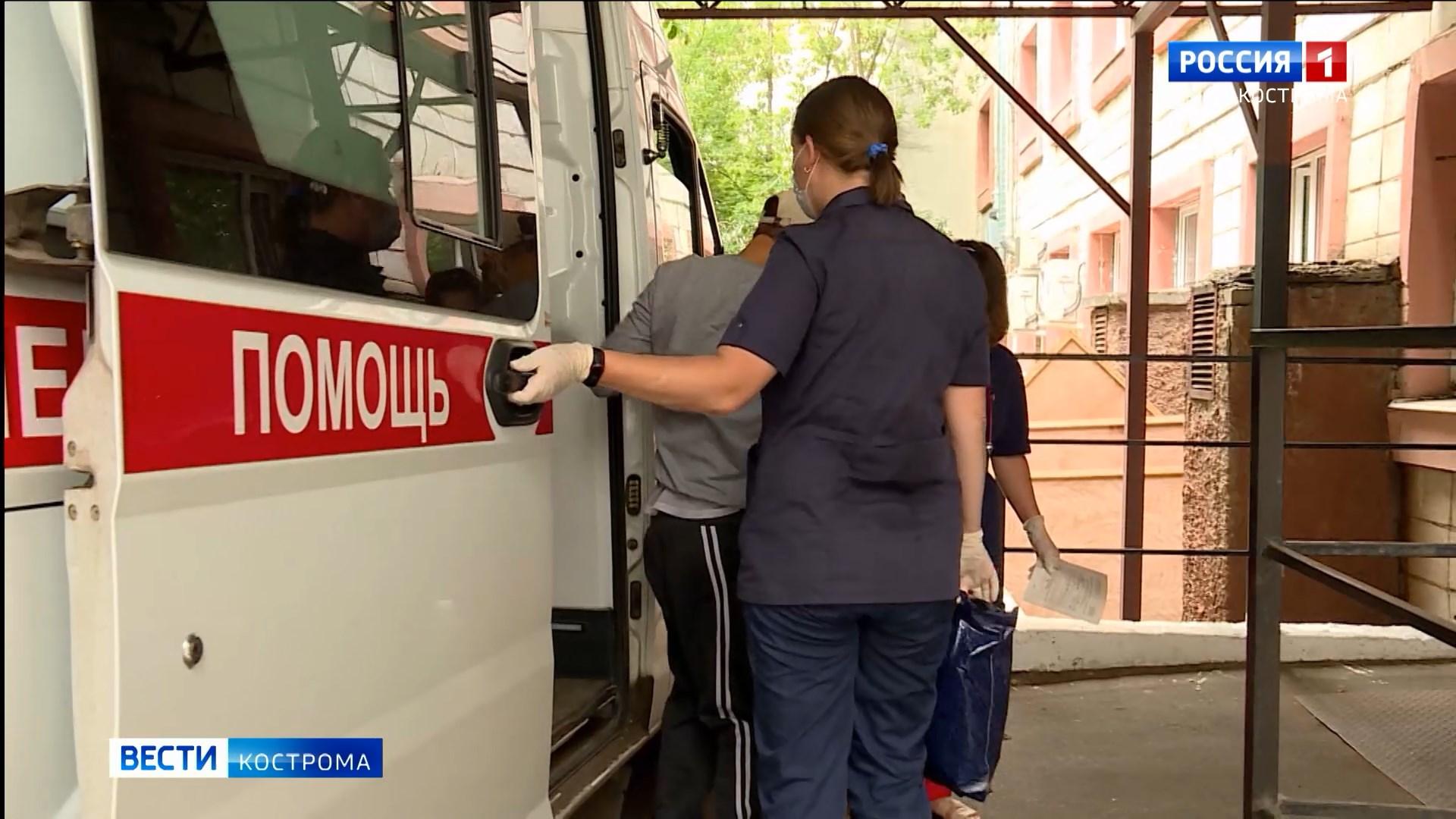 Бригады скорой помощи в Костроме обслуживают по 300 вызовов в сутки