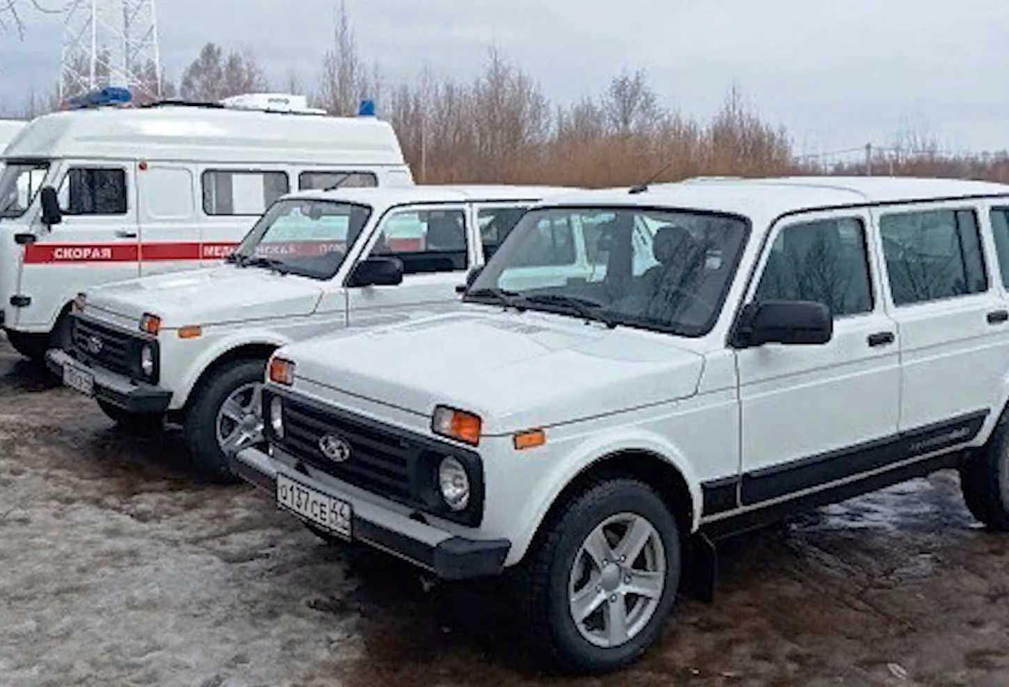 менее часа назад                                                                                                                                                                                                                                                                                               Больница в Костромской области получила две новых «Нивы»                                                                Транспорт прибыл накануне в Сусанинскую районную больницу.