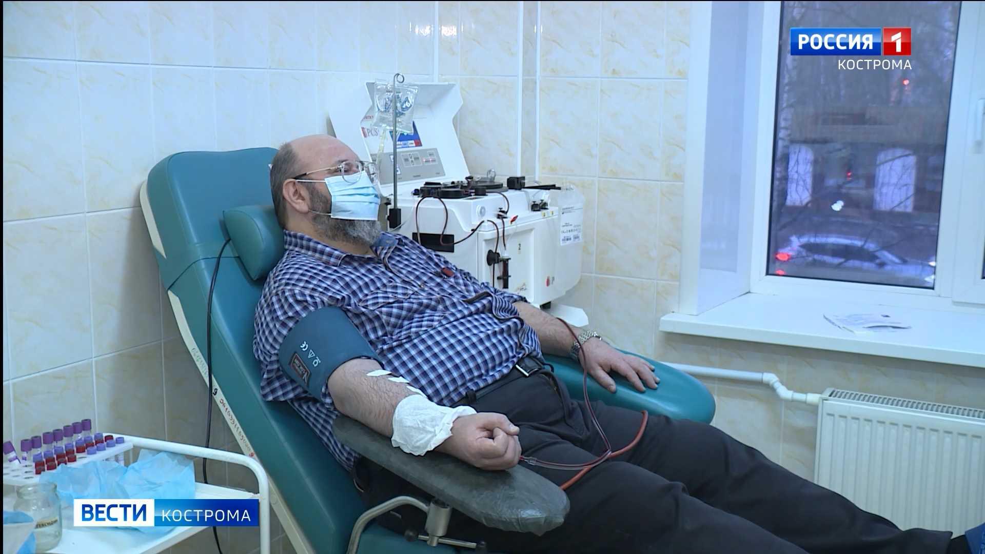 Переболевшие коронавирусом костромичи начали сдавать плазму крови