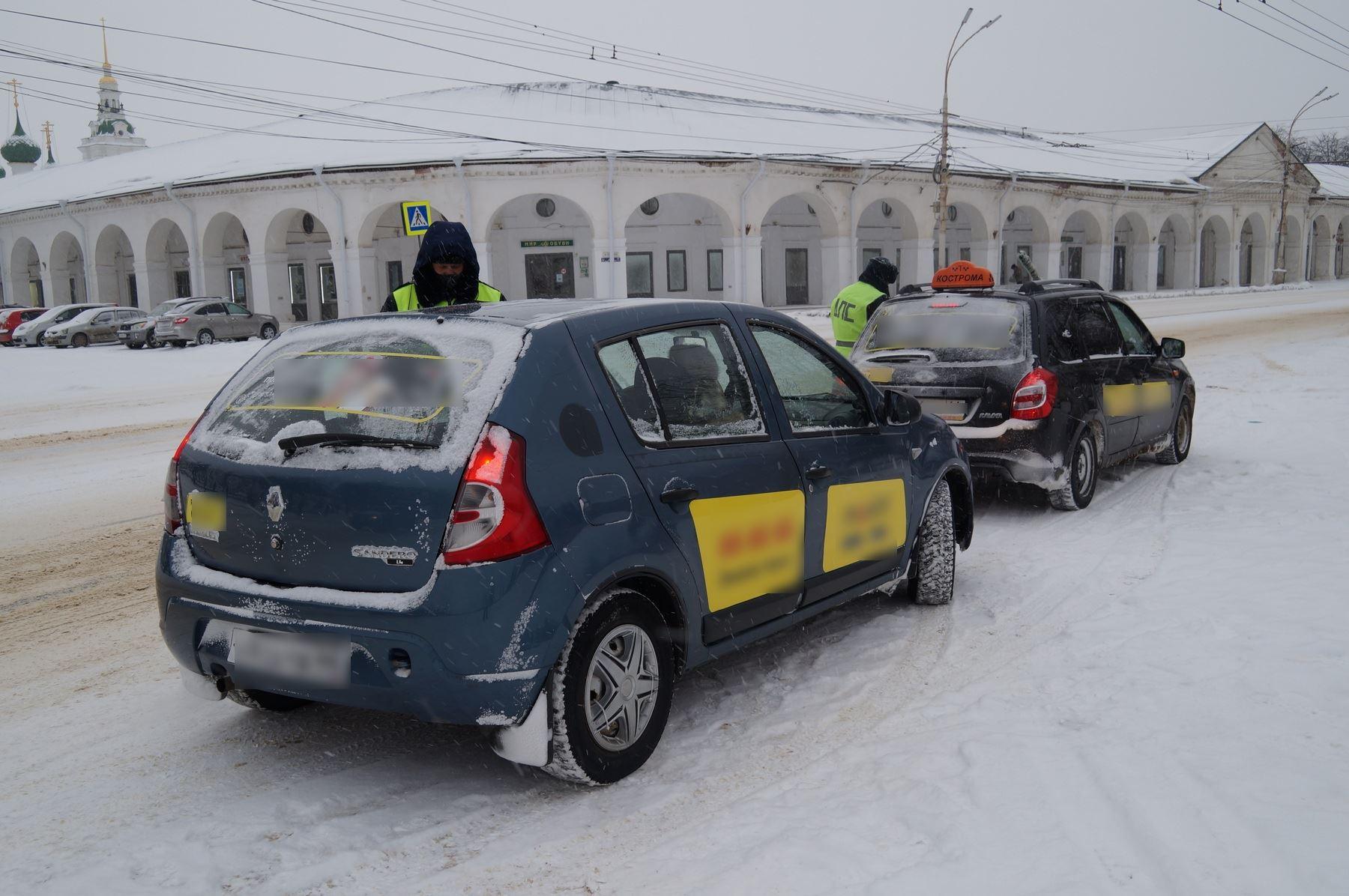 Каждый пятый таксист в Костроме нарушает ПДД