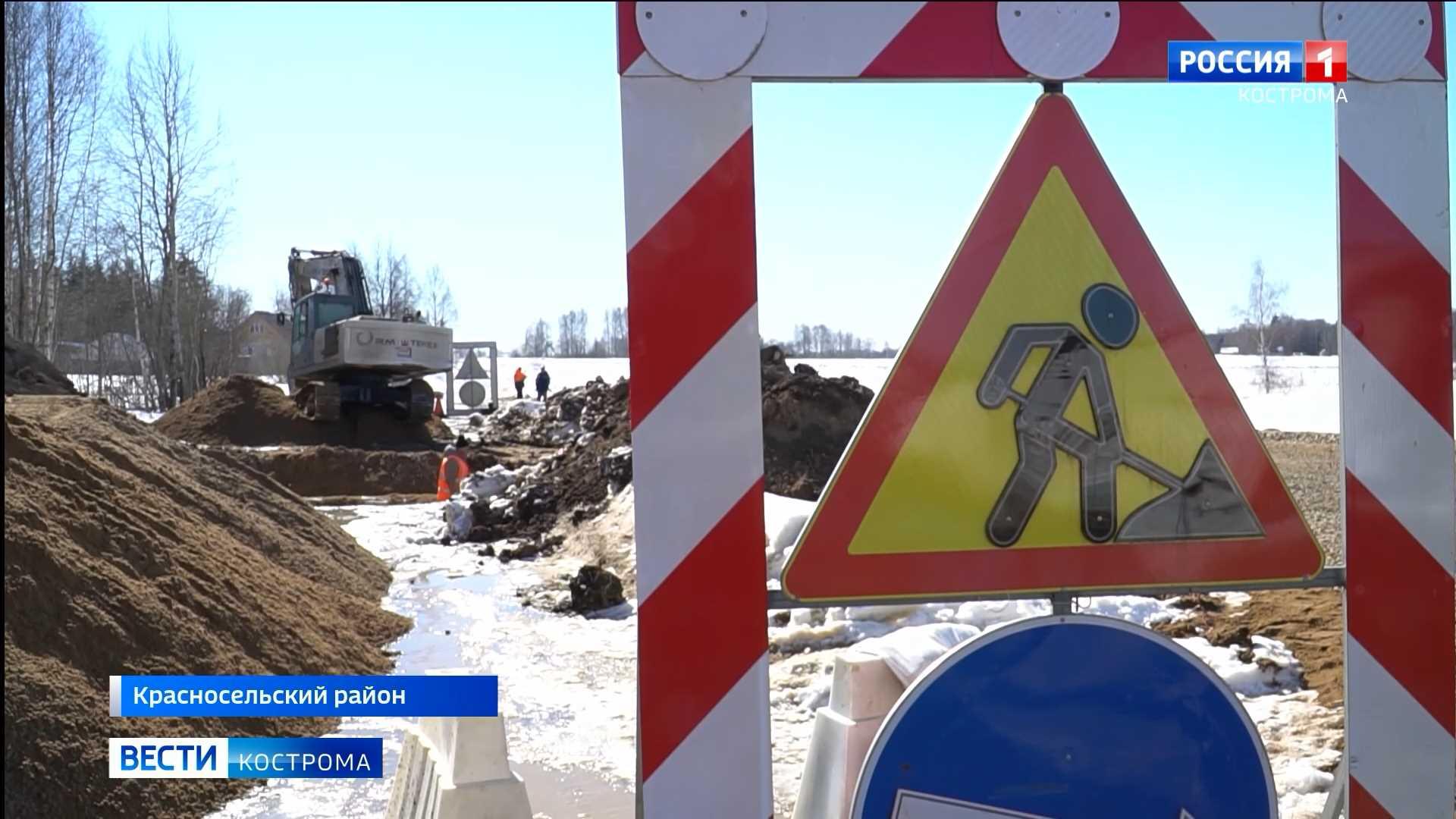 Под Костромой построят асфальтовую дорогу до лосефермы