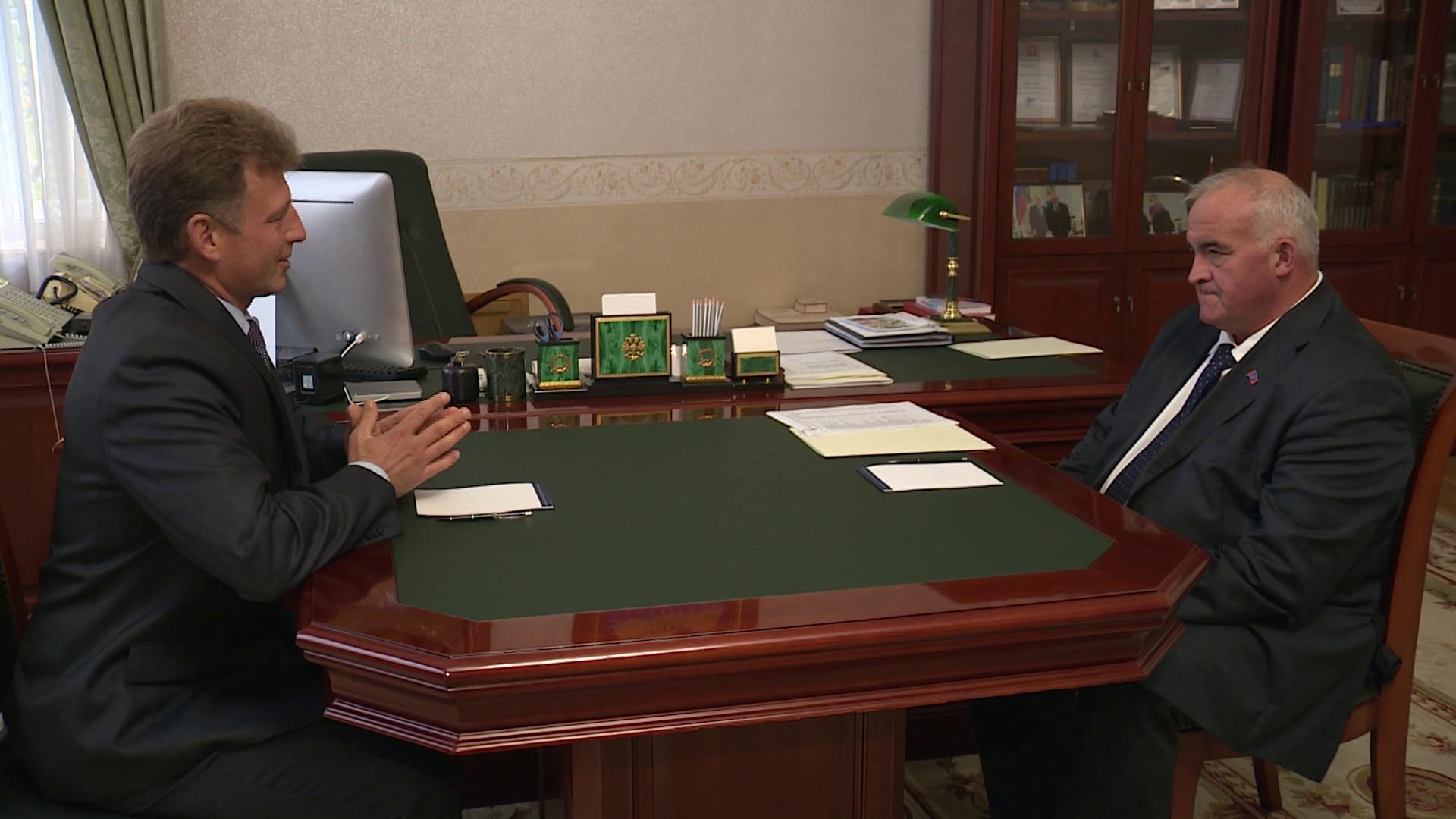Новый глава Волгореченска впервые побывал у губернатора Костромской области
