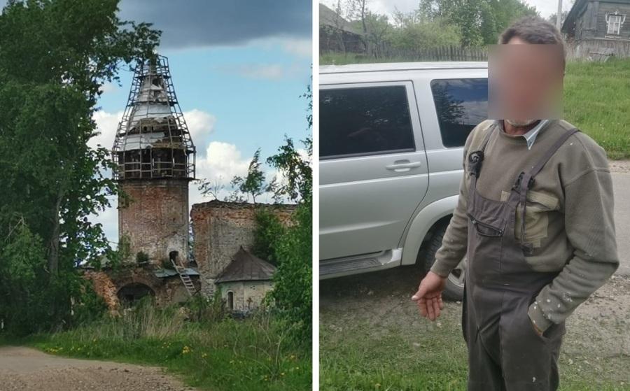 Беглого осуждённого нашли в костромской глубинке на стройке храма