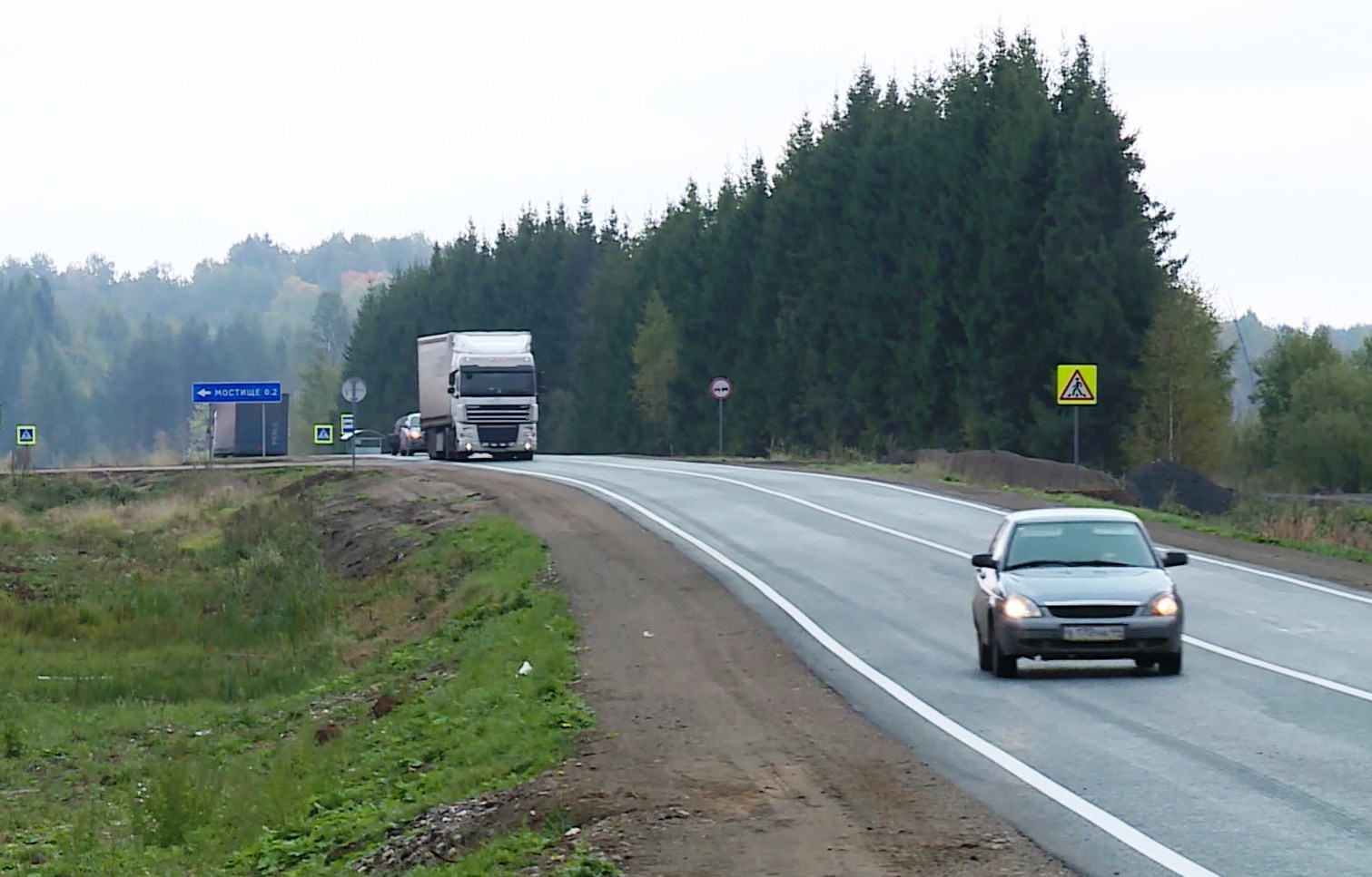 Интенсивность движения по трассе Кострома-Шарья поразила автоинспекторов