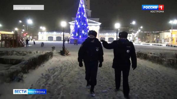 Кострома встретила Новый год спокойно и без происшествий