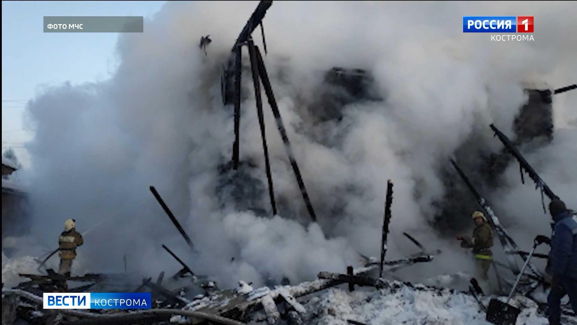 Мороз принес проблемы в Костромскую область – без крова остались 8 семей