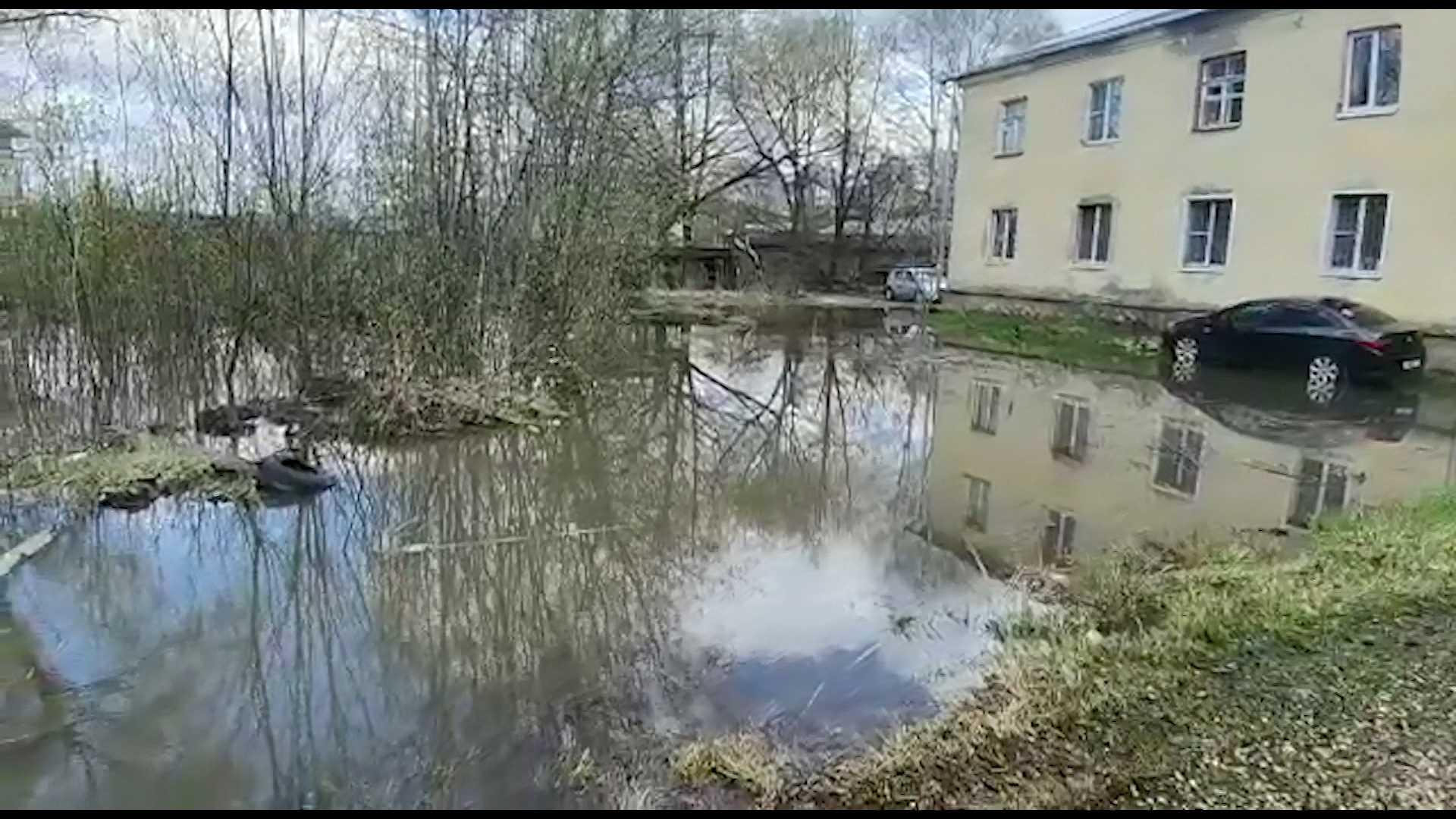 Во дворах Костромы разлились нечистоты
