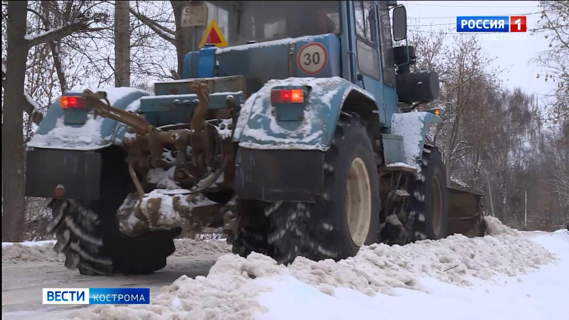 Расчистить от снега Кострому планируют к понедельнику
