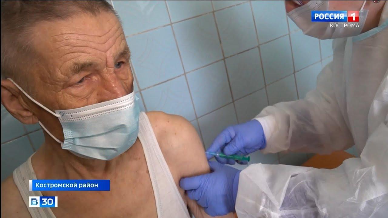 Вакцину от коронавируса получил только каждый восьмой житель костромской глубинки