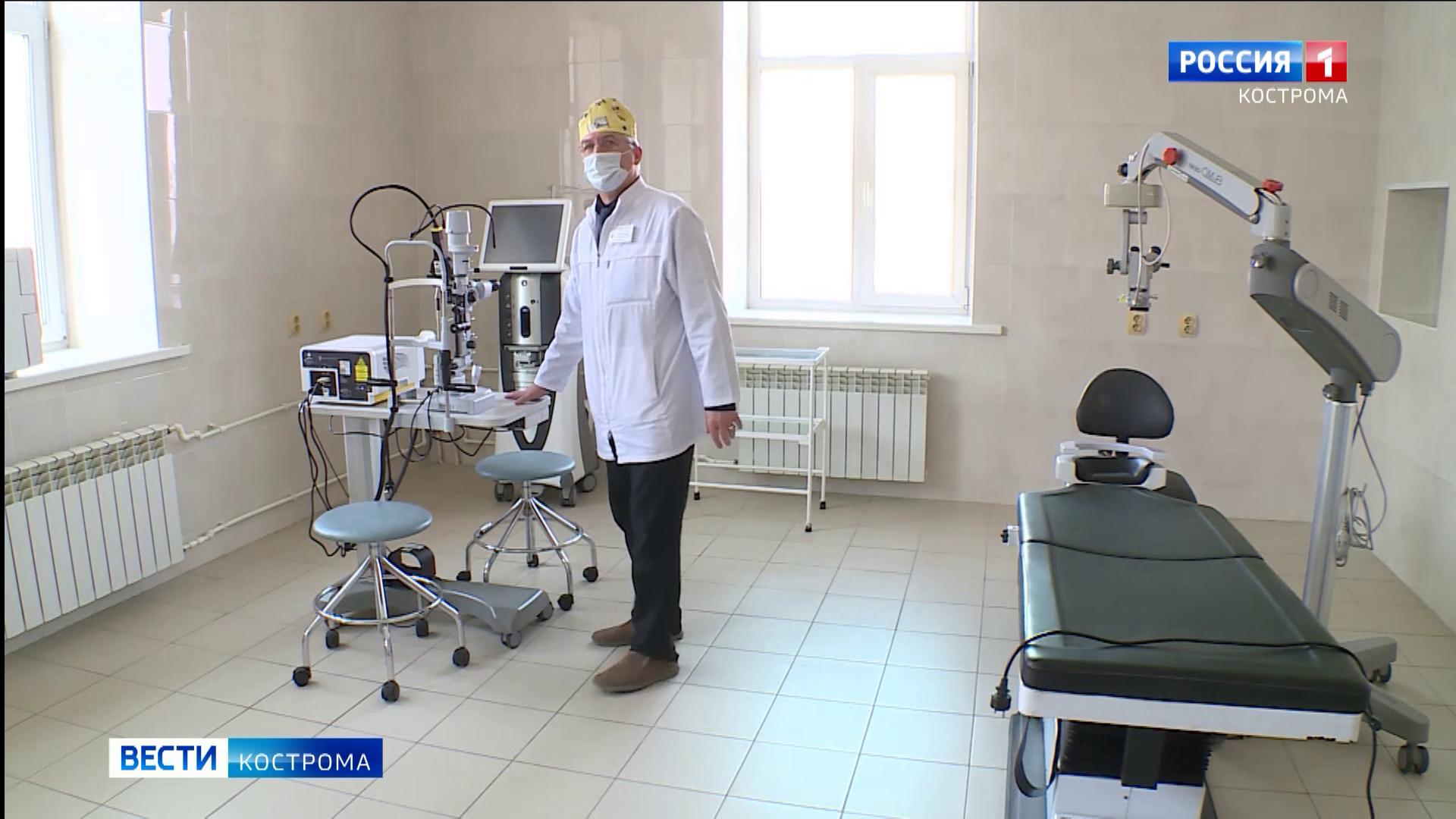 Лучшее в Европе оборудование поступило на службу костромских офтальмологов