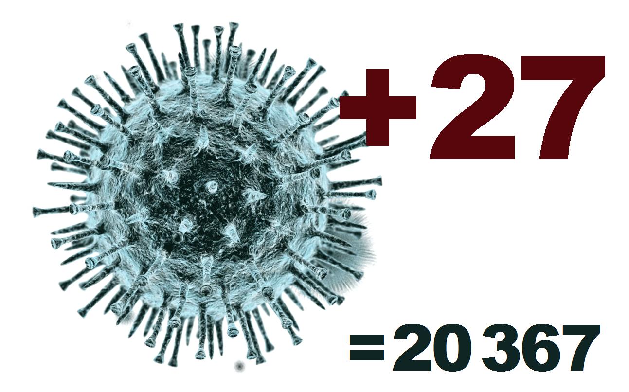 В Костромской области за сутки выявлено 27 новых случаев коронавируса