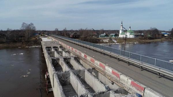 Капремонт моста через реку Кострому в Буе преодолел экватор