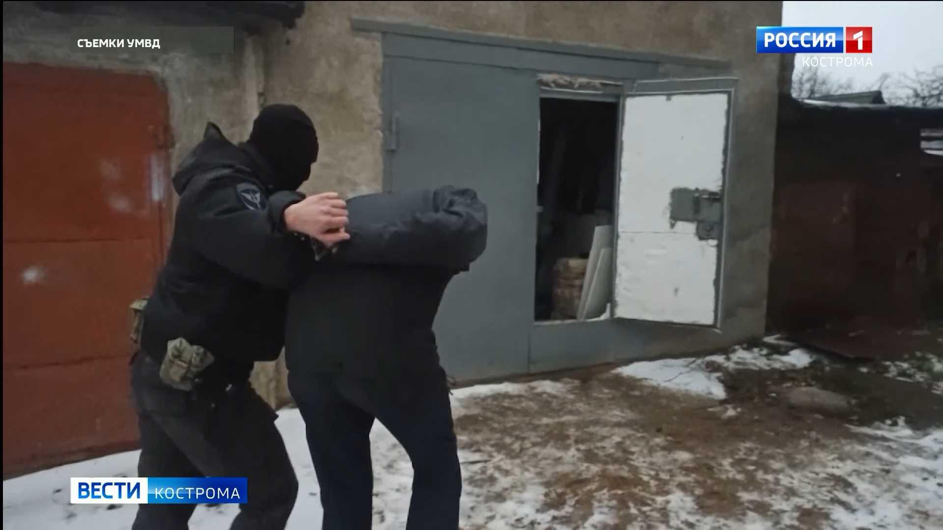 Костромич переоборудовал гараж под склад с наркотиками