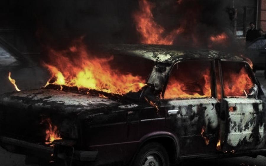 Угнанную детьми из костромского села машину нашли сожжённой
