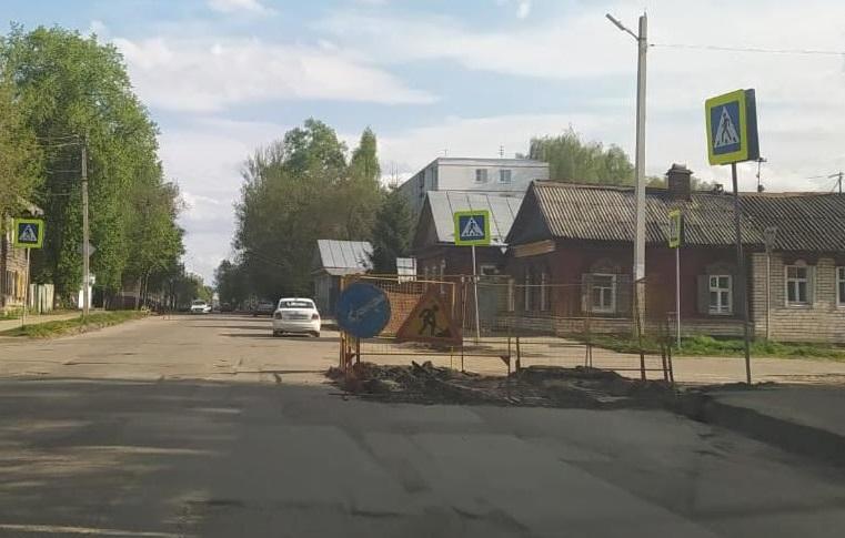 В Костроме на полтора месяца перекроют для транспорта улицу Козуева