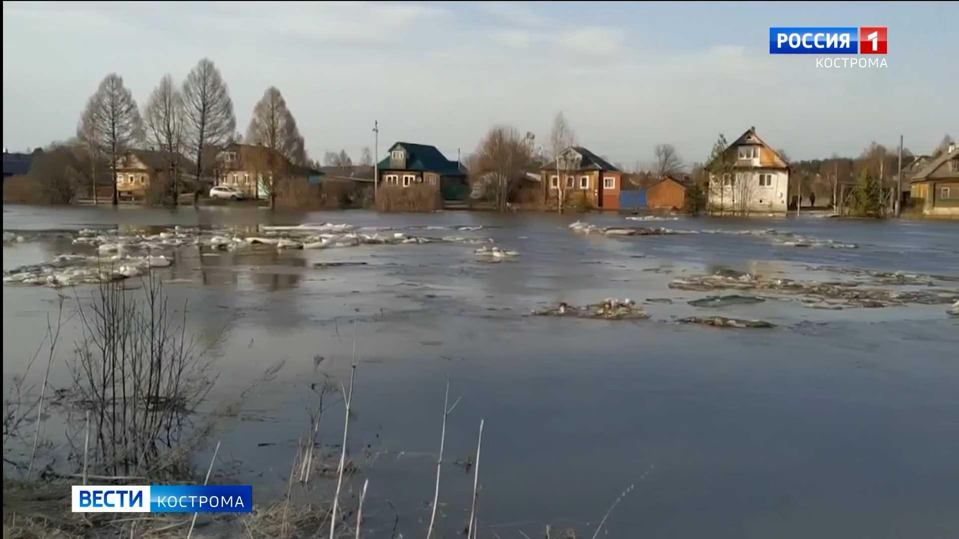 В Солигаличе река Кострома за сутки поднялась на метр