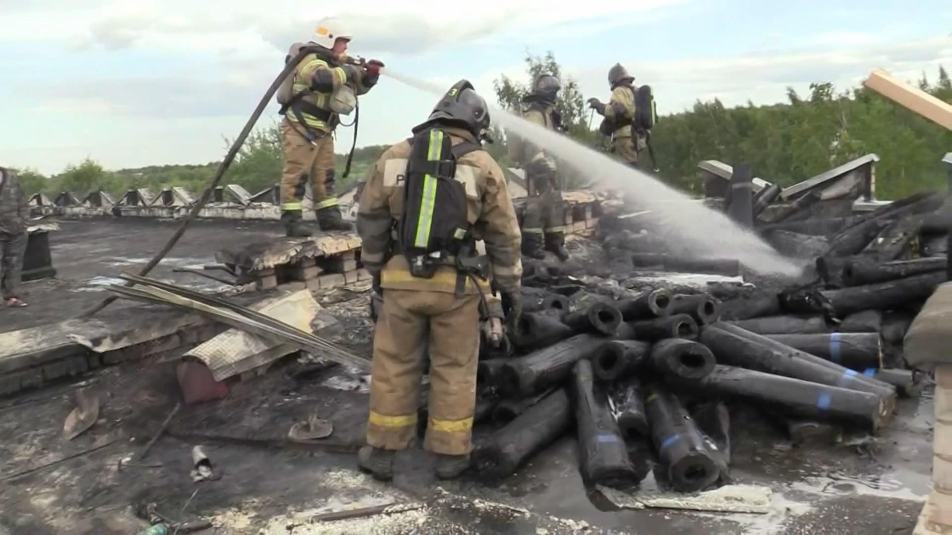В поселке Зарубино под Костромой горела местная школа