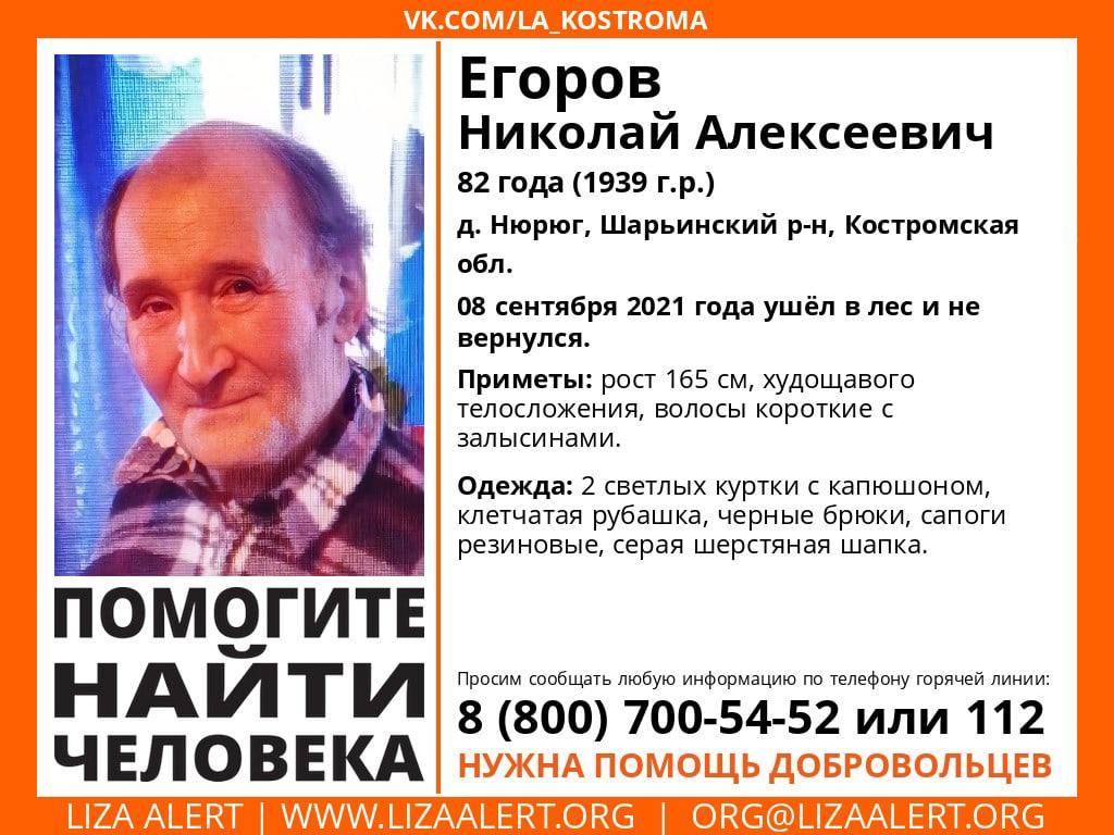 В Костромской области ищут пенсионера, одетого в две куртки