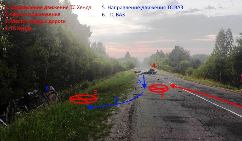 Виновник ночной аварии на костромской трассе сбежал с места ДТП
