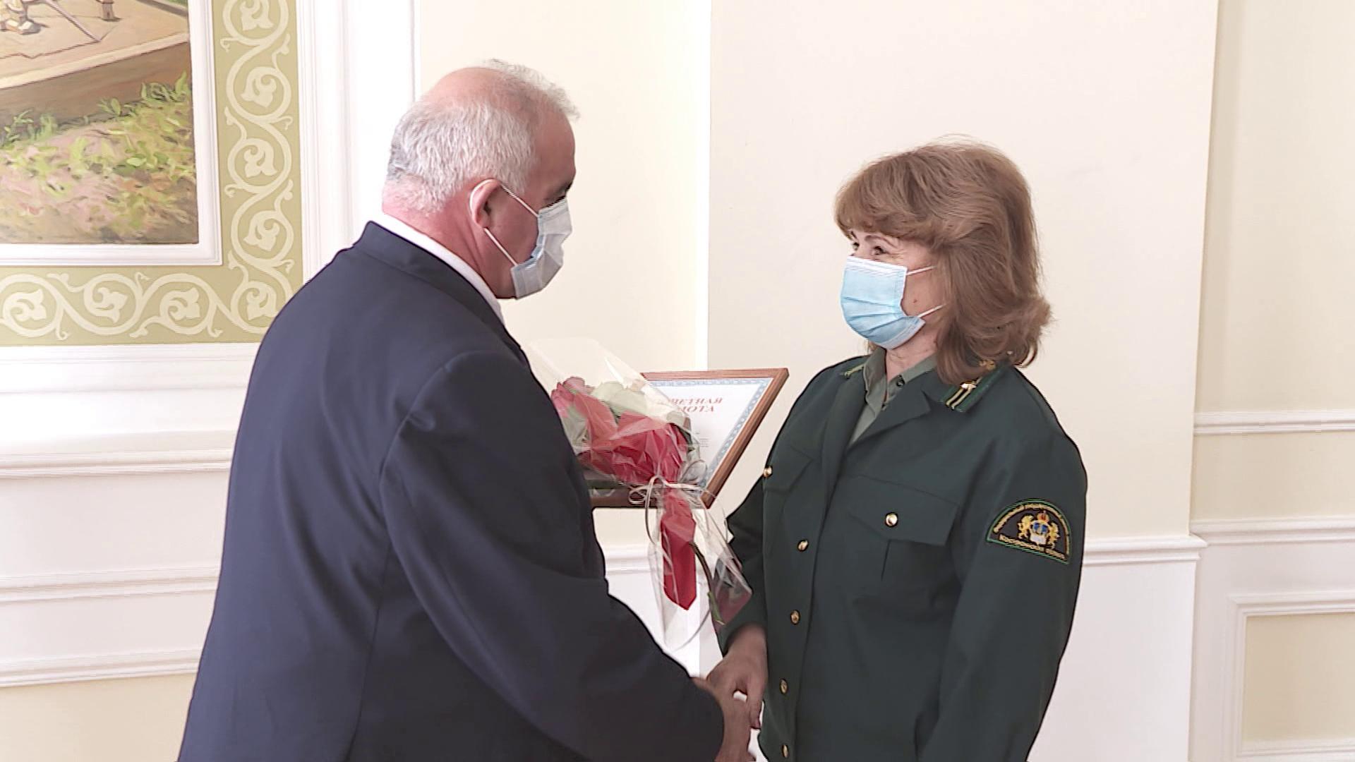 Губернатор вручил грамоты и медали работникам лесной отрасли