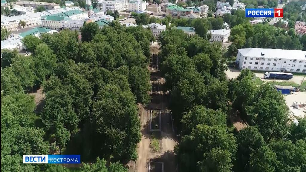 Реконструкция Центрального парка в Костроме — все идет по плану