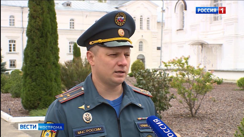 Пожарные из Костромы помолились своей небесной заступнице