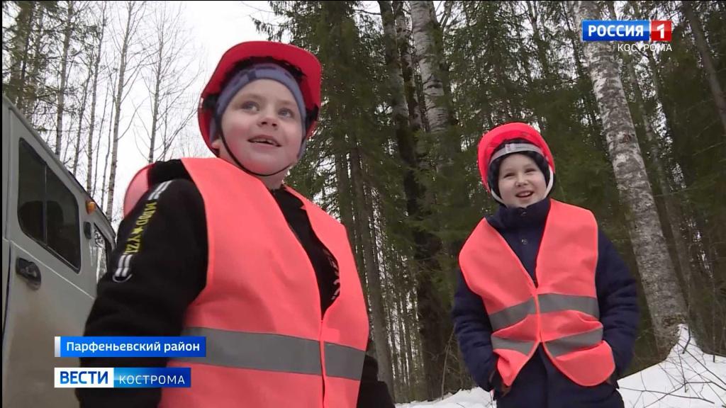 Дети вышли с дозором на лесные делянки в Костромской области