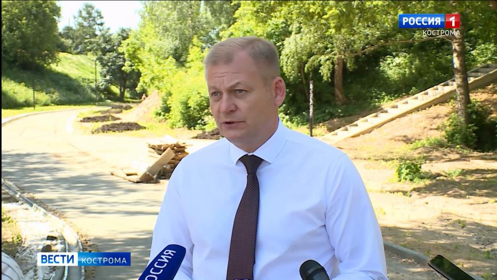 Парк у Костромской филармонии откроется этим летом